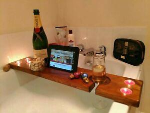 En Bois Salle De Bain Board Bath Caddy Shelf Board Tablette/téléphone, Verre à Vin/can/porte-gobelets-ine Glass/can/cup Holders Fr-fr Afficher Le Titre D'origine Gamme ComplèTe D'Articles