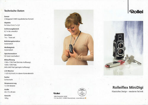 Rollei Prospekt für Rollei MiniDigi