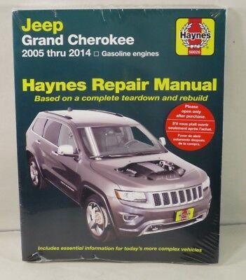 Jeep Grand Cherokee 2005-2014 Haynes Repair Manual H50026-NOS