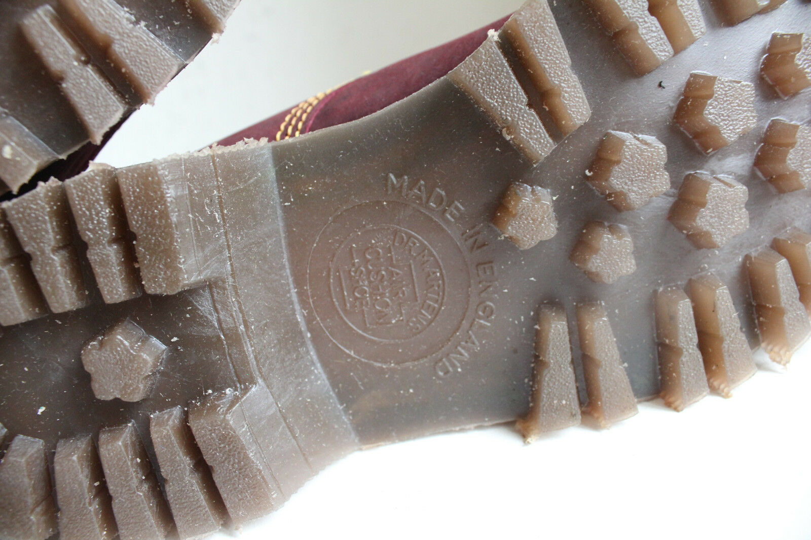 Vintage Dr. Martens Hawkins botas fabricado nubukleder burdeos eu 38 - uk 5 fabricado botas en Inglaterra 59b84e