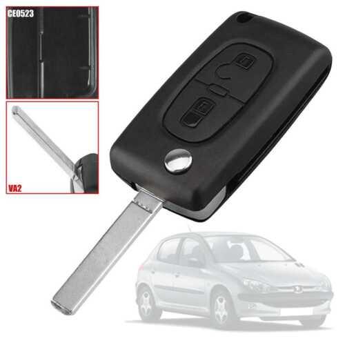 CE0523 VA2 2 Buttons Flip Key Shell Case for Peugeot 206 207 306 Citroen C3 C4