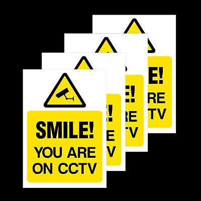 This property is protected by 24 hour CCTV surveillance safety sign 1.2mm rigid plastic 300mm x 200mm