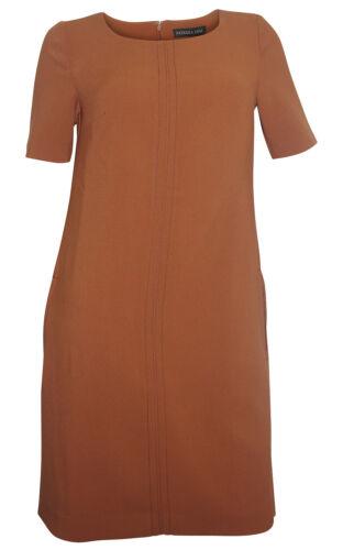 Patrizia Dini robe marron moulante Business Robe Mini-robe élégant NEUF