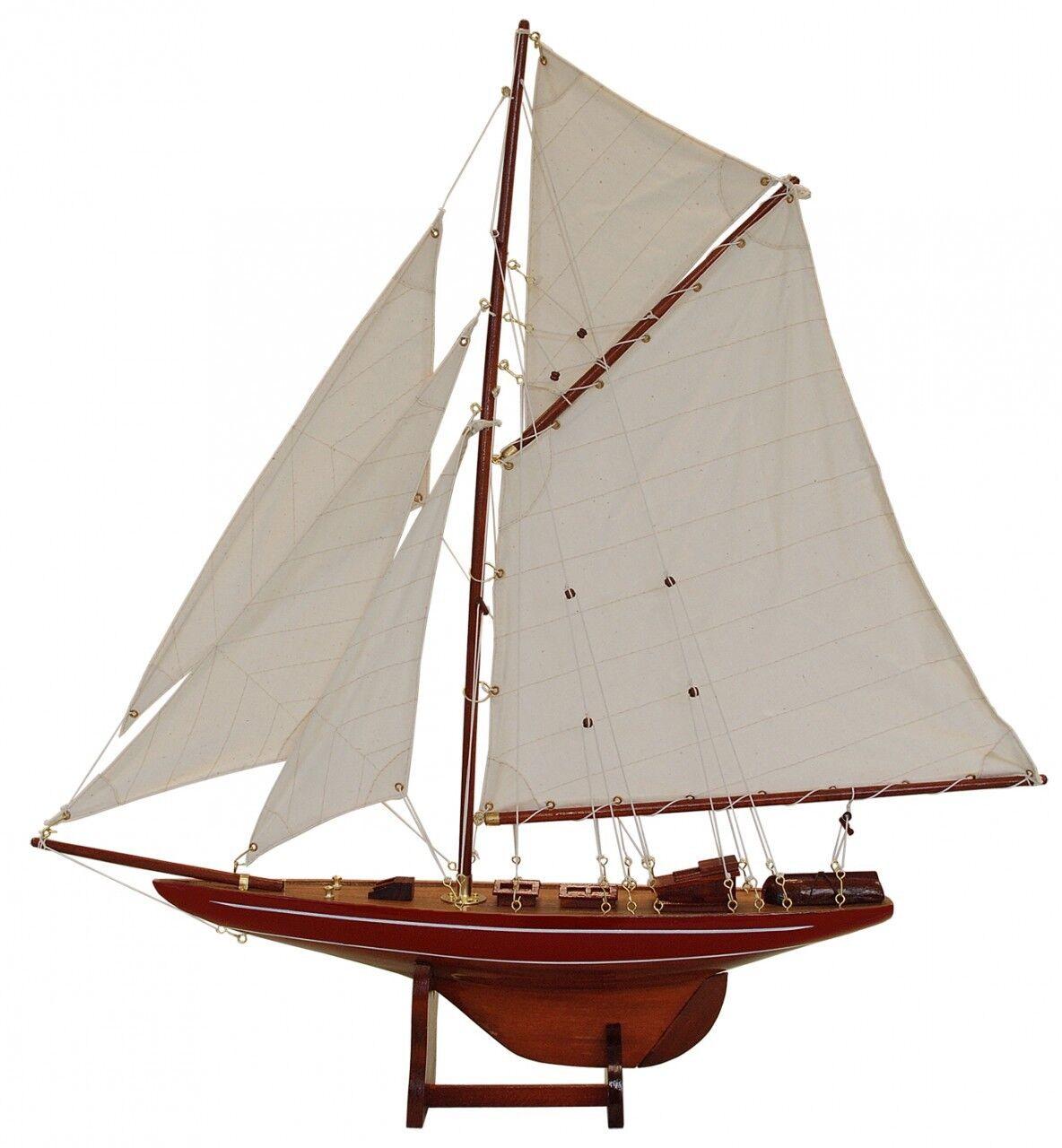 BATELA bois modèle voilier Columbia rouge - 126cm
