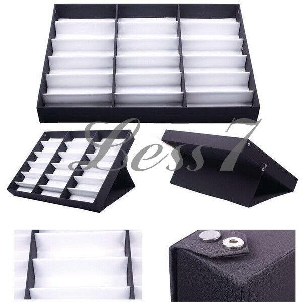 Hot Selling Eyeglasses Sunglasses 18-Pair Display Box case organizer Holder CAIS