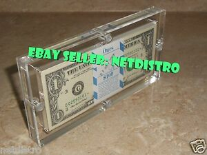 Acrylic-BEP-100-Pack-Money-Currency-Holder-Dollar-Bank-Frame-Note-Display-Case