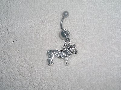 Cupid Love Harp Charm Belly Button Navel Ring Body Jewelry Piercing 14g