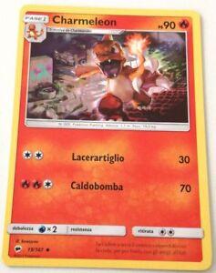 kaartspellen CHARMELEON 19/147 OMBRE INFUOCATE NON COMUNE CARTA POKEMON ITALIANA NM