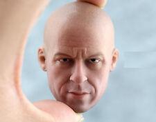 █ Custom Vin Diesel 1.0 1/6 Head Sculpt for Hot Toys Muscular Body HeadPlay  █