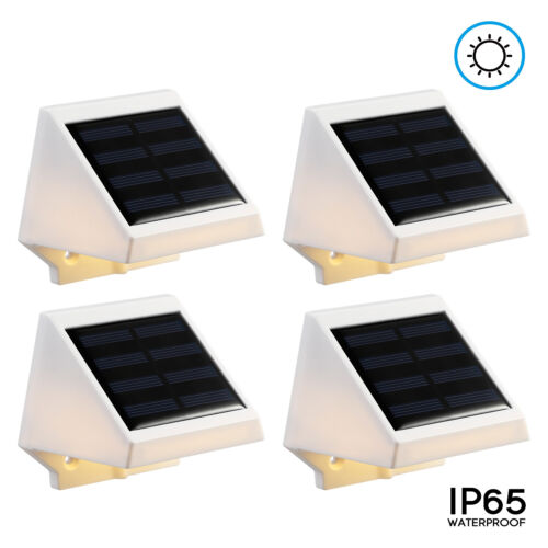 Path,Pack of 4//8 Fence Dusk-to-dawn For Stair LED Solar Powered Stair Light