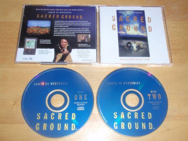 Santa Fe Mysteries Sacred Ground PC/Mac 2 CDROMs 1996 game for Windows 95/MS-DOS