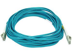 15m-LC-LC-50-125-10Gb-Duplex-Multi-Mode-Optic-Fiber-Optics-Optical-Cable-Aqua