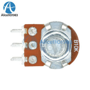 5PCS-B10K-Dual-Stereo-Potentiometer-Pots-Shaft-S-15mm-6Pin