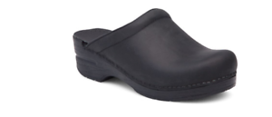 Dansko Sonja Black Oiled Staple Clog Slip-on Shoe Women's sizes 36-42/NEW!!!