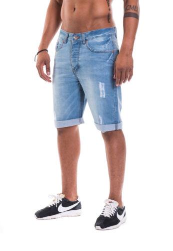 Rocawear uomo pantaloncini short RELAX r00j9911ls Light Wash destroyed 828