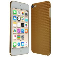 Skinomi Gold Carbon Fiber Skin+Screen Protector For Apple iPod Touch 6 (6th Gen)
