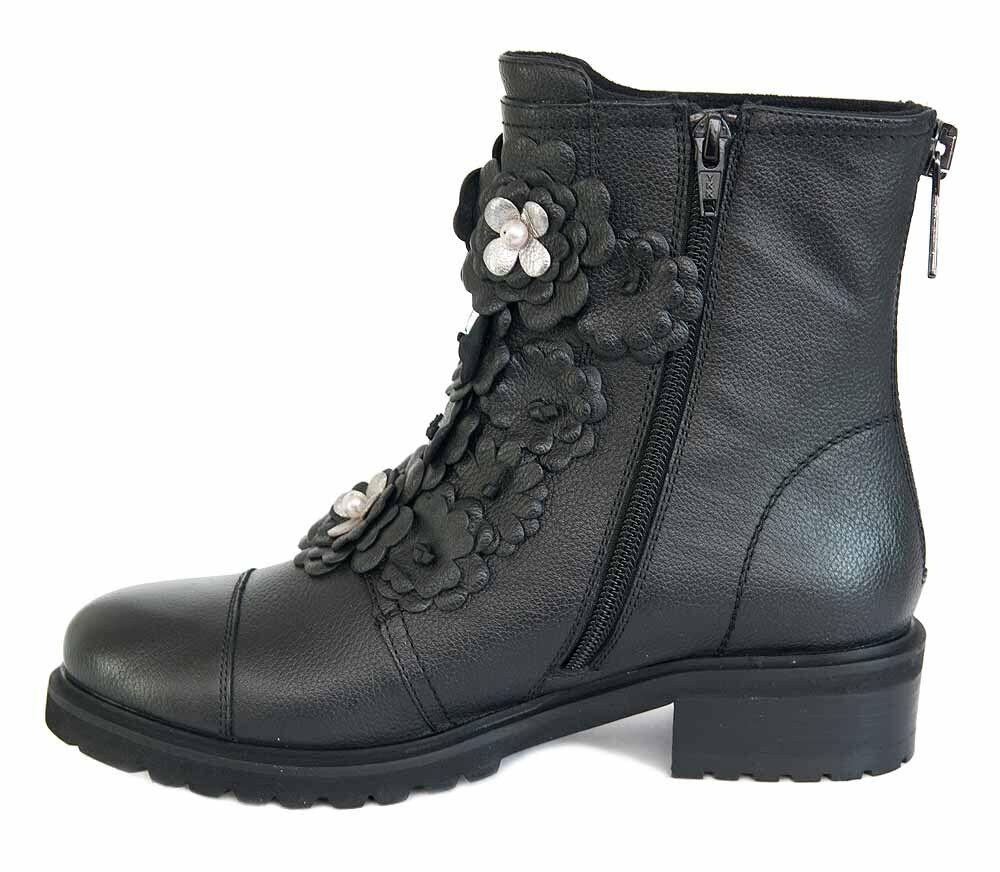 SPM Stiefeletten Kendall Ankle Stiefel schwarz schwarz schwarz schwarz Leder mit Blumen NEU 7fc145