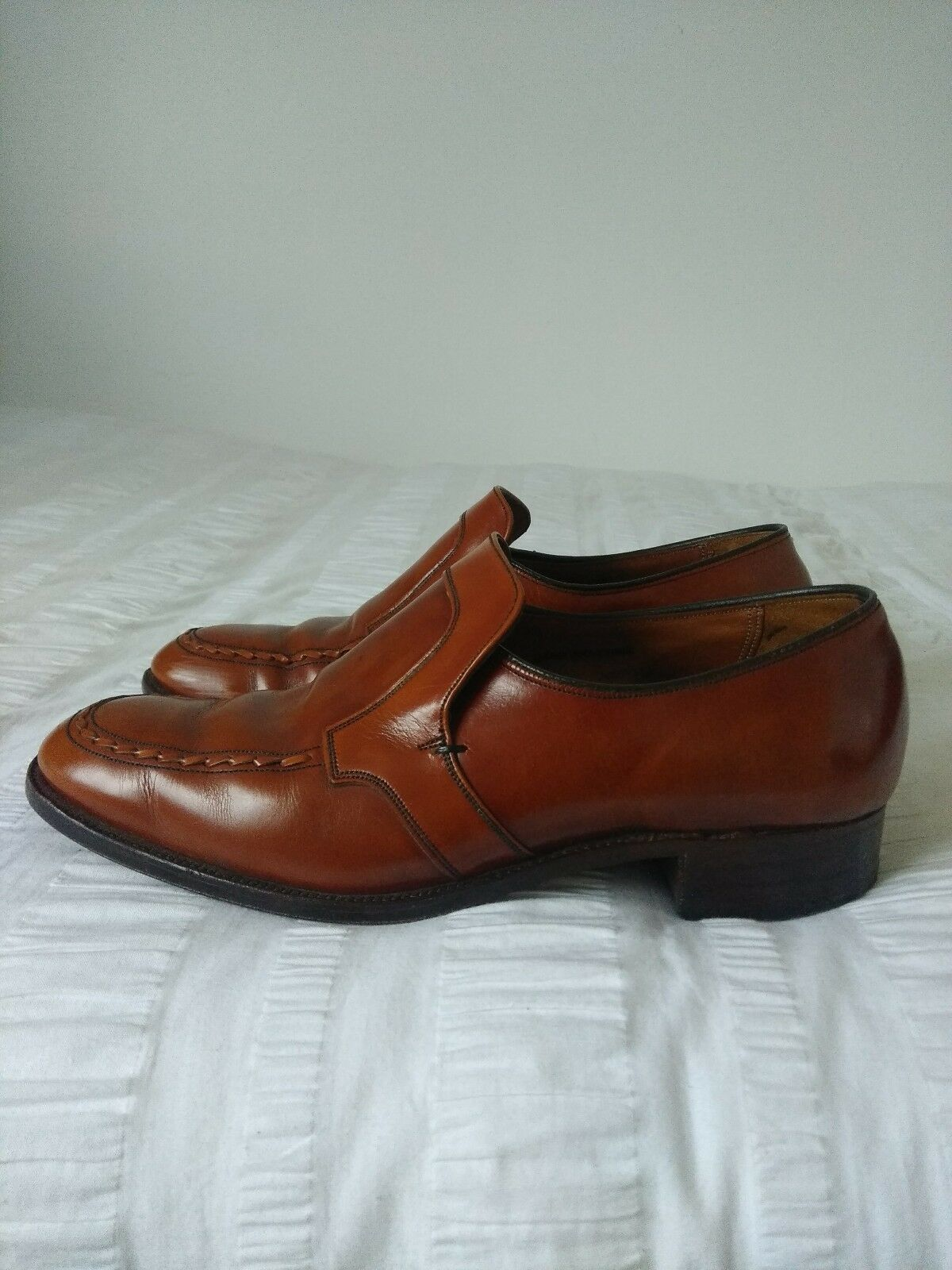 Crockett & Jones 'Hereford' Men's Chestnut Brown Leather shoes, Size UK8.5E