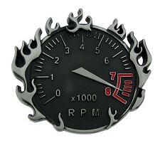 Mens Womens Belt Buckle Speedometer Metal Fashion Tattoo Gothic Flaming Tribal