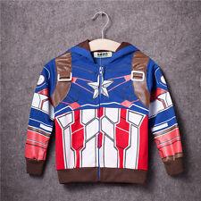 Kinder Kleidung Jungen Mantel Kapuze Superheld Winterjacke Sweatshirt Gr.74-128