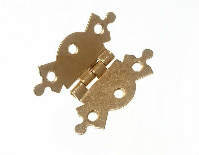 100 OF X BUTTERFLY HINGES 2  50MM BRASS PLATED EB