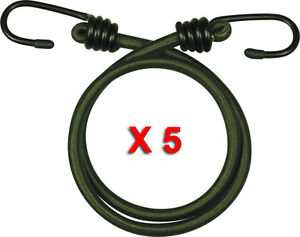 5-PACK-12-034-INCH-ELASTIC-BUNGEE-30CM-BUNGEES-CORDS-CORD-HEAVY-DUTY-OLIVE-ROPE