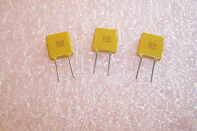 10 QTY .033uf 100V 1/% NPO RADIAL CERAMIC CAPACITORS C340C333F1G5CA KEMET