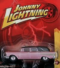 1957 CHEVY HEARSE  -  CHAMPAGNE & BLACK -  JOHNNY LIGHTNING 1:64 SCALE