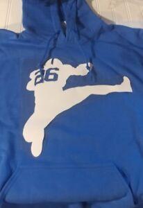 size 40 7d8ea 0382b Details about new sweatshirt hoodie hooded saquon barkley giants york penn  state football gym