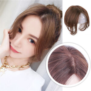 Details about Clip in 100% Remy Human Hair Women Top Topper Piece Hairpiece  Lace Wig Toupee 7cd91dd04