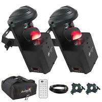 American Dj Inno Pocket Scan Led Mirror Scanner Pair + Bags + Clamps on Sale