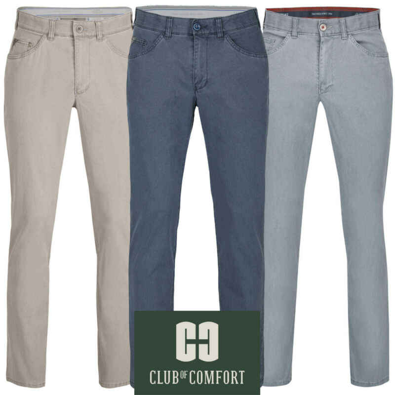 Club Of Comfort Herren Hose Keno 6527 Jeans Swing-pocket High Stretch Baumwolle