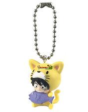 One Piece Cat Suit Nyan Mascot PVC SD Figure ~ Monkey D. Luffy Keychain @10998