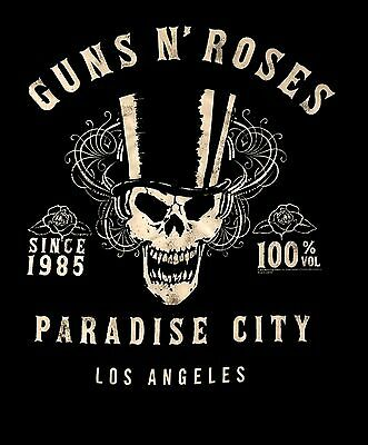 GUNS N' ROSES cd lgo PARADISE CITY SINCE 1985 Official TANK TOP SHIRT LG New OOP