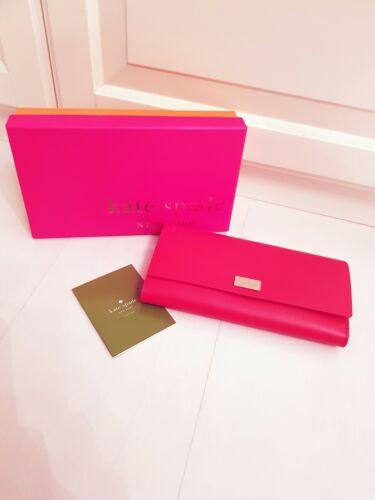Valentines Gkate New With Purse Leather Spade Brand Interior Pink Red HHz1qwx7g