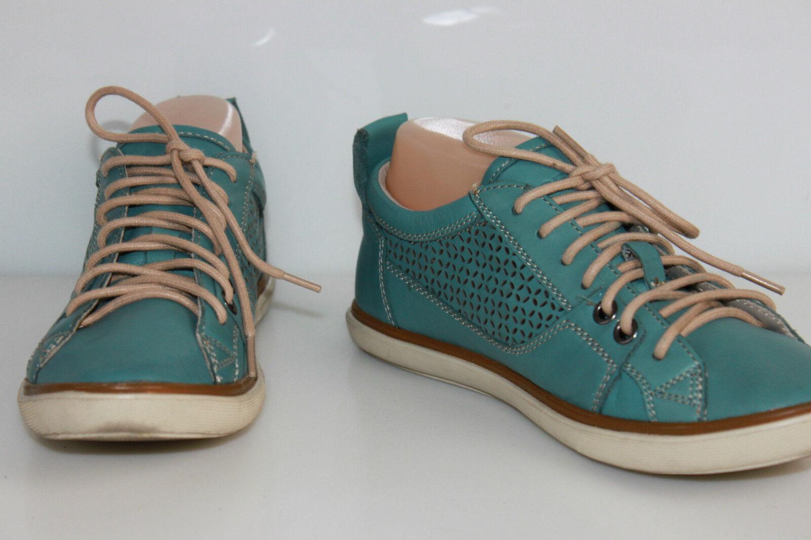 Basket GEOX Cuir Turquoise T UK UK UK 4   T 7 US   T 37 EUR  TTBE  el precio más bajo