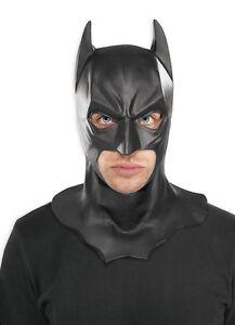 Image is loading ADULT-BATMAN-LATEX-FULL-MASK-THE-DARK-KNIGHT-  sc 1 st  eBay & ADULT BATMAN LATEX FULL MASK THE DARK KNIGHT RISES BATMAN COSTUME ...