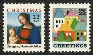 #2244-2245 22c Navidad 1986 ,Nuevo Cualquier 5=
