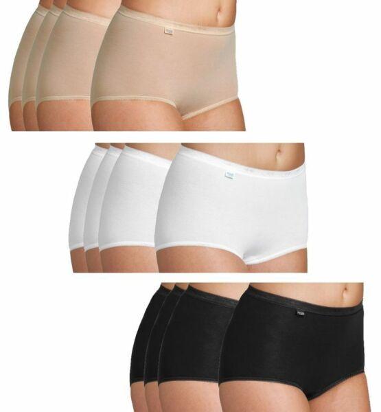 Sloggi Basic+ Maxi Damen Taillenslips 4er Pack