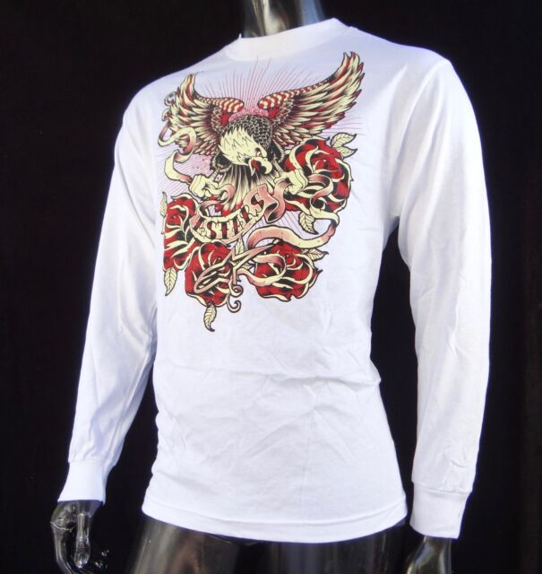 480bb1c7219e New Alpinestars Racing Eagle Rose White Sport Atletic Mens T shirt size  Medium