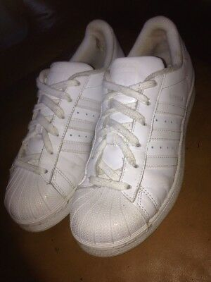 Adidas Superstar White Trainers Size 38
