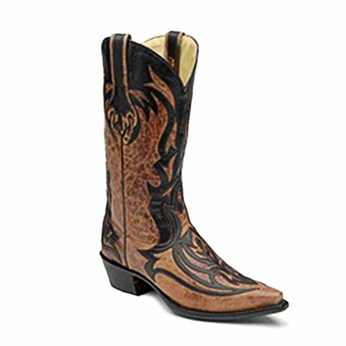 Corral Men's Laser Overlay Cowboy Leather Boots G1091