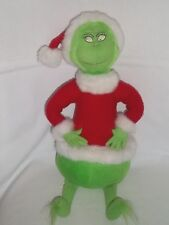 "HALLMARK Dr Seuss 17"" Plush GRINCH WHO STOLE CHRISTMAS Stuffed Animal Lg Toy"