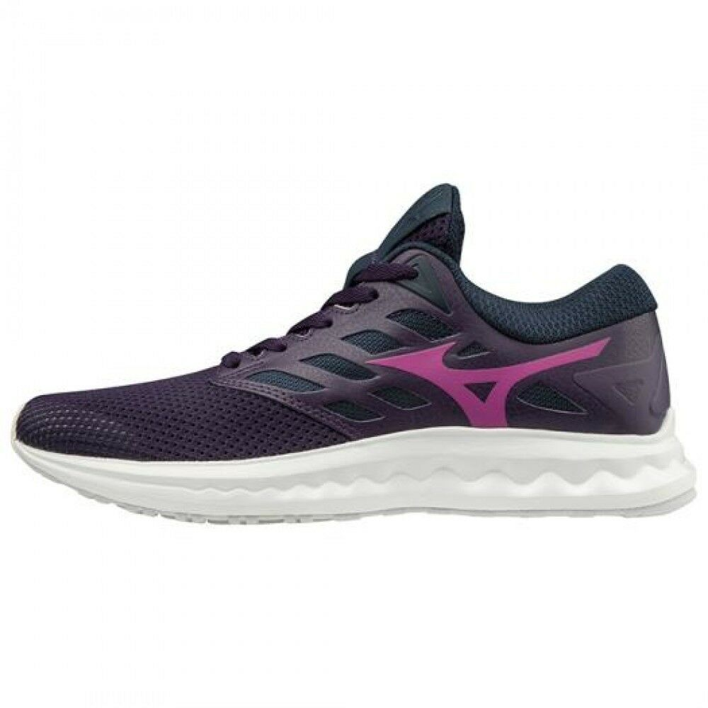 Women Running shoes Wave Polaris EZ J1GD1982 Purple × Purple