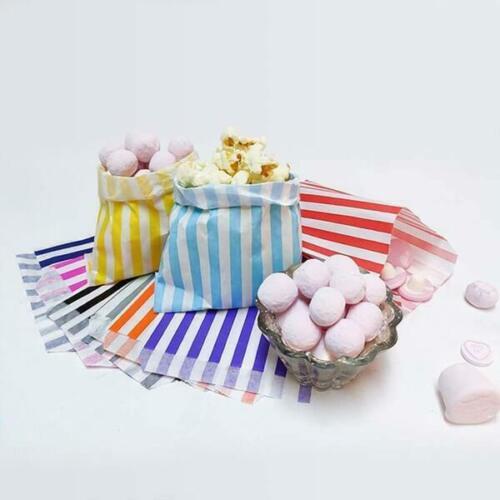Fiesta a rayas bolsas de papel cariño Bolsas De Pastel favor Gran Color Caramelo Dulces