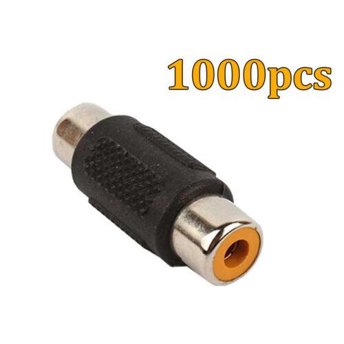 Wholesale 1000pcs RCA AV female to female adapters joiners gender changer FM//FM