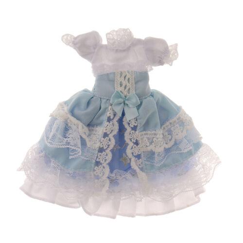Frilly 3 Layers Blue Spitzenkleid Für 1//6 BJD Doll  Dolls Dressing Up Accs