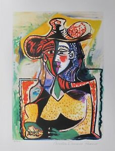Pablo-Picasso-PORTRAIT-OF-A-WOMAN-Estate-Signed-Limited-Edition-Small-Giclee-Art