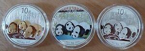 CHINA 3x 10 Yuan Panda-Set 2013 Gildet/ Color/ Silber * * TOP * * 3 Unzen Silber - Deutschland - CHINA 3x 10 Yuan Panda-Set 2013 Gildet/ Color/ Silber * * TOP * * 3 Unzen Silber - Deutschland