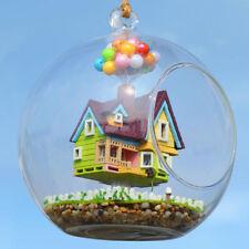 DIY Glass Dollhouse Mini Crystal Ball Model Kit With Lights Doll House Xmas Gift